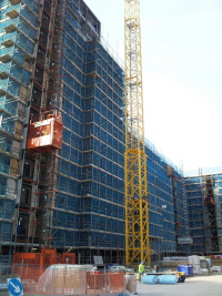 Combination Twin Hoists 2032TD and 2000kg Goods Hoist at Millharbour Canary Wharf